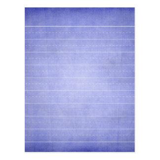 SCHPPR OCEAN BLUE RULED SCHOOL LINED PAPER EDUCATI POSTCARD