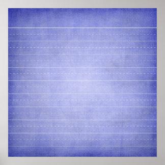 SCHPPR OCEAN BLUE RULED SCHOOL LINED PAPER EDUCATI POSTER