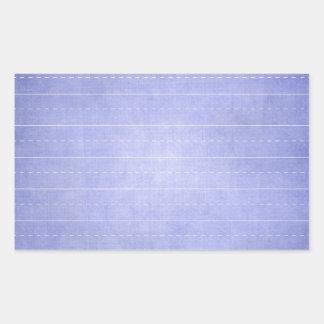 SCHPPR OCEAN BLUE RULED SCHOOL LINED PAPER EDUCATI RECTANGULAR STICKER