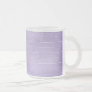 SCHPPR PURPLE SCHOOL LINED PAPER EDUCATION BACKGRO FROSTED GLASS COFFEE MUG