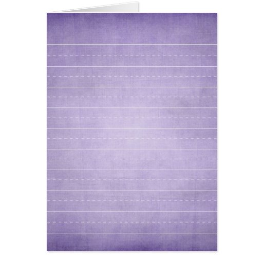 SCHPPR PURPLE SCHOOL LINED PAPER EDUCATION BACKGRO GREETING CARD