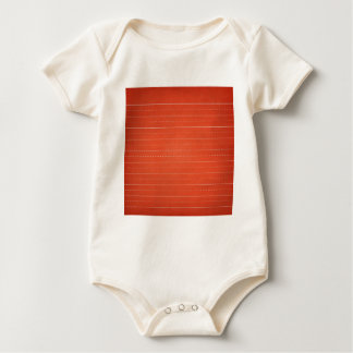 SCHPPR RICH RED RULED SCHOOL LINED PAPER EDUCATION BABY BODYSUIT