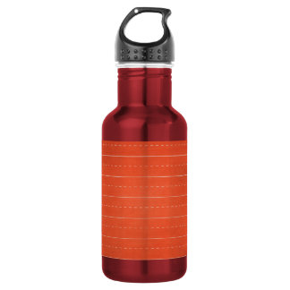SCHPPR RICH RED RULED SCHOOL LINED PAPER EDUCATION STAINLESS STEEL WATER BOTTLE