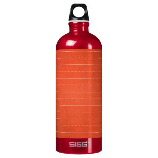 SCHPPR RICH RED RULED SCHOOL LINED PAPER EDUCATION WATER BOTTLE
