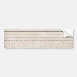 SCHPPR WRINKLED WHITE RULED SCHOOL LINED PAPER EDU BUMPER STICKER