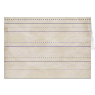 SCHPPR WRINKLED WHITE RULED SCHOOL LINED PAPER EDU CARD