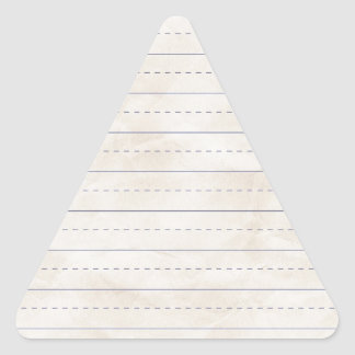 SCHPPR WRINKLED WHITE RULED SCHOOL LINED PAPER EDU TRIANGLE STICKERS