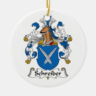 Schreiber Family Crest Ceramic Ornament