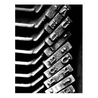 Schreibmaschinentypen Tarjeta Postal