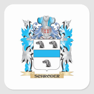 Schroder Coat of Arms - Family Crest Square Sticker