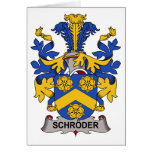 Schroder Family Crest Greeting Cards