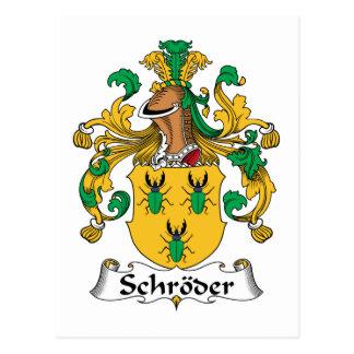 Schroder Family Crest Postcard
