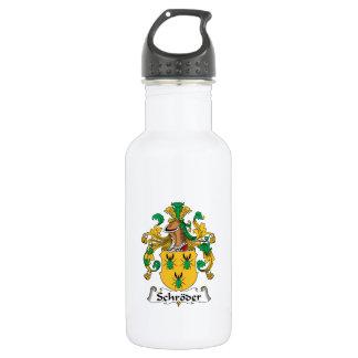 Schroder Family Crest Water Bottle