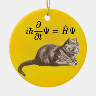 Schrodinger cat and Maxwell Ceramic Ornament
