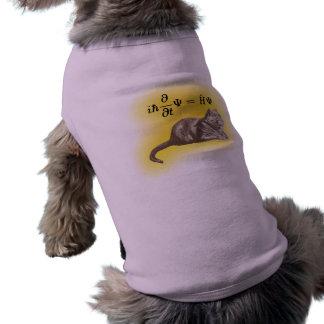 Schrodinger cat dog t-shirt