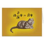 Schrodinger cat greeting card