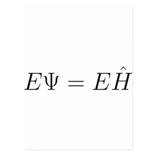 Schrödinger equation postcard