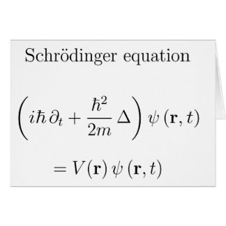 Schrodinger equation with name greeting card
