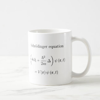 Schrodinger equation with name classic white coffee mug
