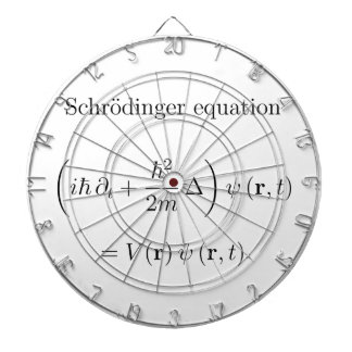 Schrodinger equation with name dart boards