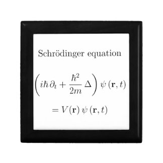 Schrodinger equation with name trinket box