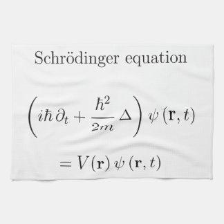Schrodinger equation with name towel