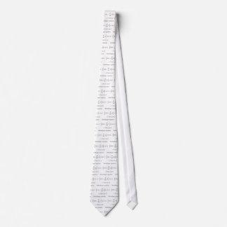 Schrodinger equation with name neck tie