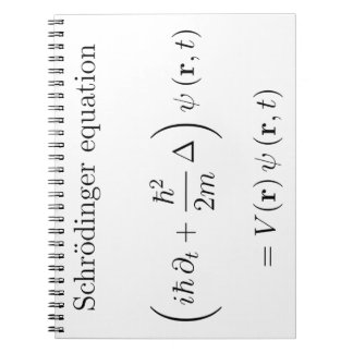 Schrodinger equation with name spiral notebooks