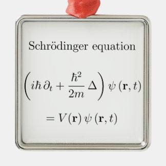 Schrodinger equation with name christmas ornament