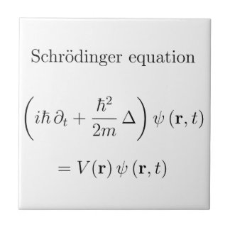 Schrodinger equation with name tile