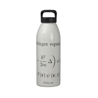 Schrodinger equation with name drinking bottle