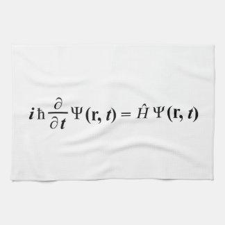 Schrödinger Gleichung Schrodingers equation Hand Towel