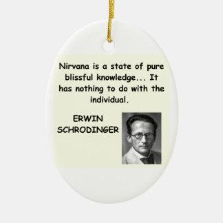 schrodinger quote christmas tree ornament