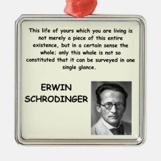 schrodinger quote christmas ornaments
