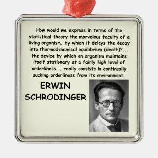 schrodinger quote christmas ornament