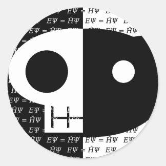 Schrödinger's Cat Classic Round Sticker