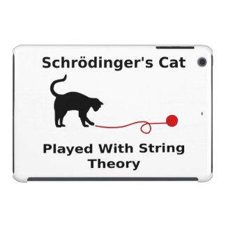 Schrödinger's Cat Played With String Theory iPad Mini Case