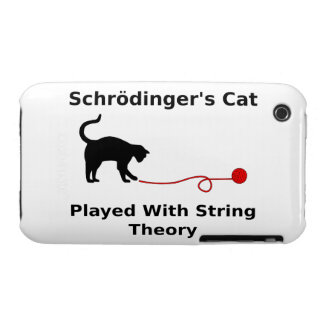 Schrödinger's Cat Played With String Theory iPhone 3 Case