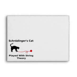 Schrödinger's Cat Played With String Theory Envelopes