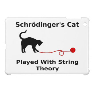 Schrödinger's Cat Played With String Theory iPad Mini Cases