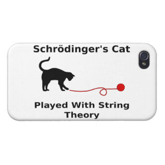 Schrödinger's Cat Played With String Theory iPhone 4/4S Case