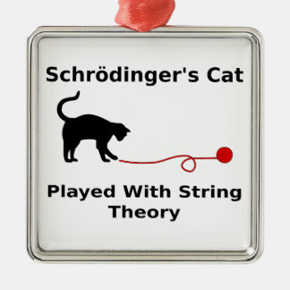 Schrödinger's Cat Played With String Theory Christmas Ornaments