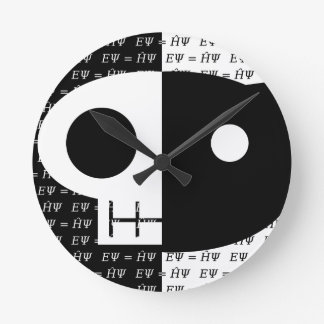Schrödinger's Cat Round Clock