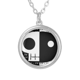 Schrödinger's Cat Silver Plated Necklace