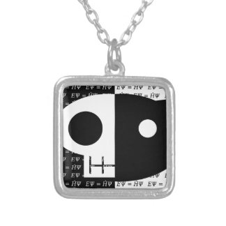 Schrödinger's Cat Silver Plated Necklace