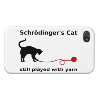 Schrödinger's Cat Still Played With Yarn iPhone 4/4S Case