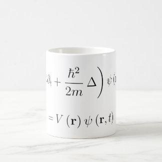 Schrodinger wave equation classic white coffee mug