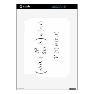 Schrodinger wave equation decal for iPad 2