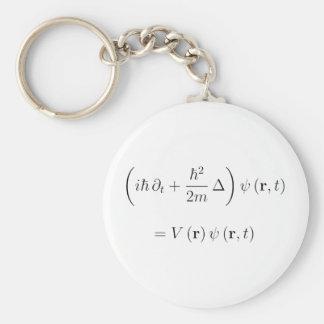 Schrodinger wave equation keychain