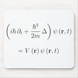 Schrodinger wave equation mouse pad